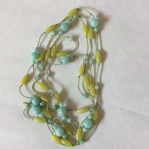 Beads on Cord Lariat Necklace